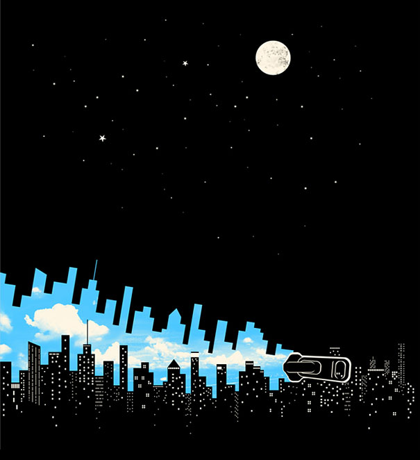 Negative space art illustrations by Tang Yau Hoong - 22