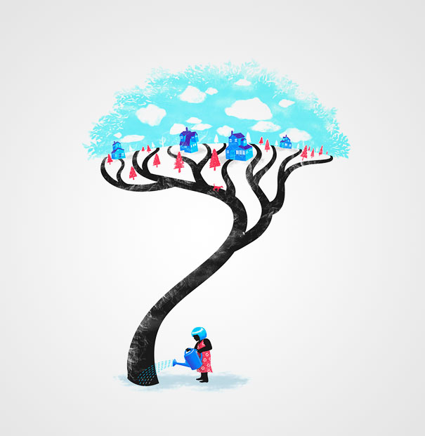 Negative space art illustrations by Tang Yau Hoong - 24