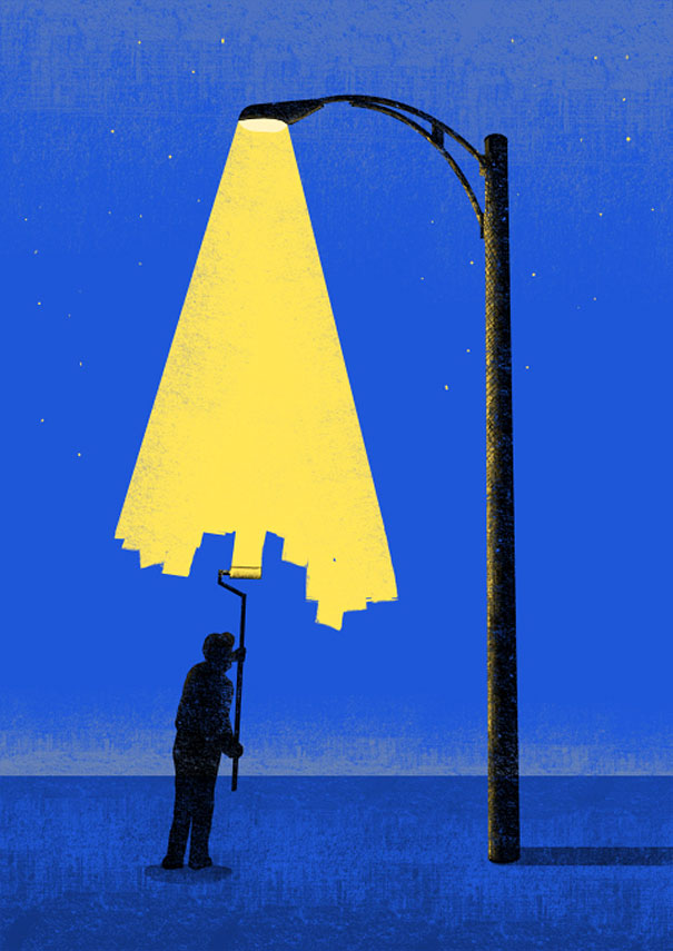 Negative space art illustrations by Tang Yau Hoong - 29