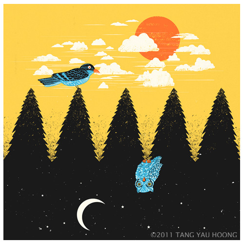 Negative space art illustrations by Tang Yau Hoong - 4