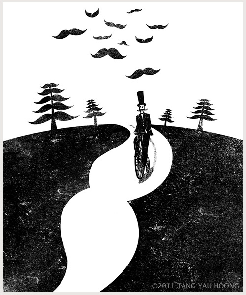 Negative space art illustrations by Tang Yau Hoong - 6