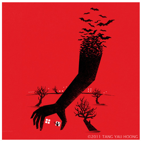 Negative space art illustrations by Tang Yau Hoong - 8