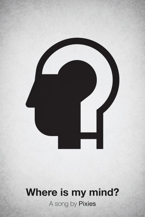 Pictogram music posters of song names - Where Is My Mind? - Pixies
