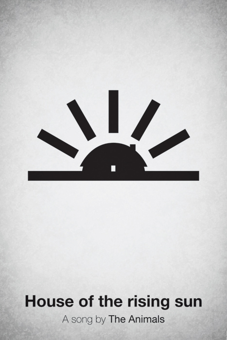 Pictogram music posters of song names - House of the Rising Sun - The Animals
