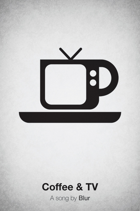 Pictogram music posters of song names - Coffee & TV - Blur
