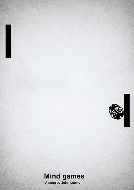 Pictogram music posters of song names - Mind Games - John Lennon