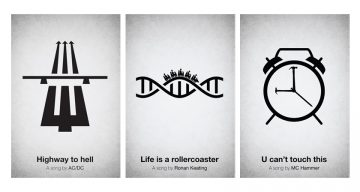 34 Clever Music Posters That Visualize The Names Of Famous Songs