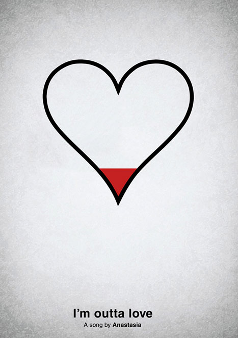 Pictogram music posters of song names - I'm Outta Love - Anastasia