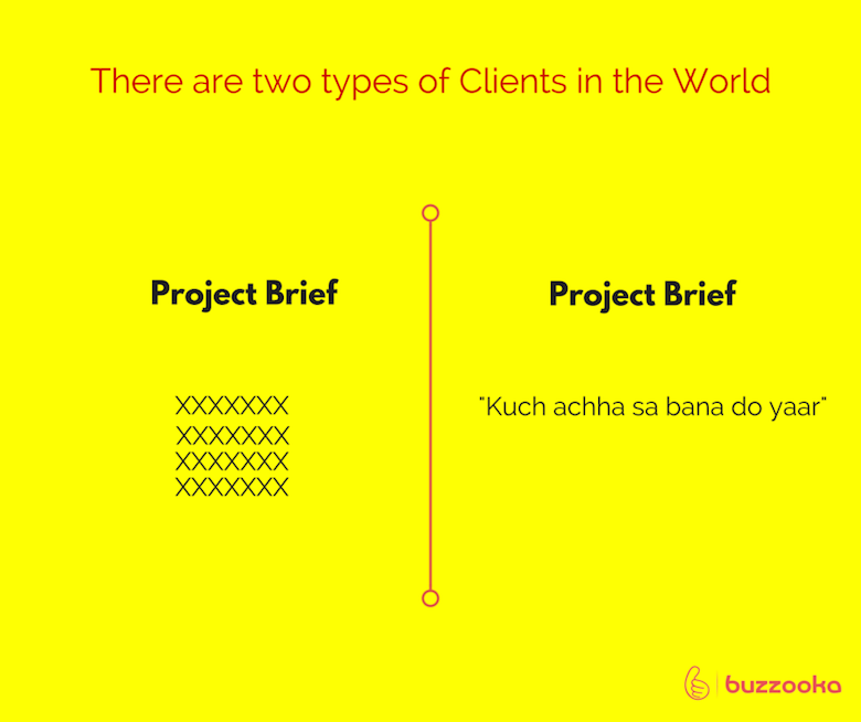Two types of agency clients / Funny advertising, design projects - 1