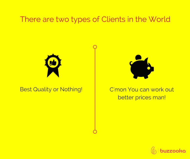 Two types of agency clients / Funny advertising, design projects - 2