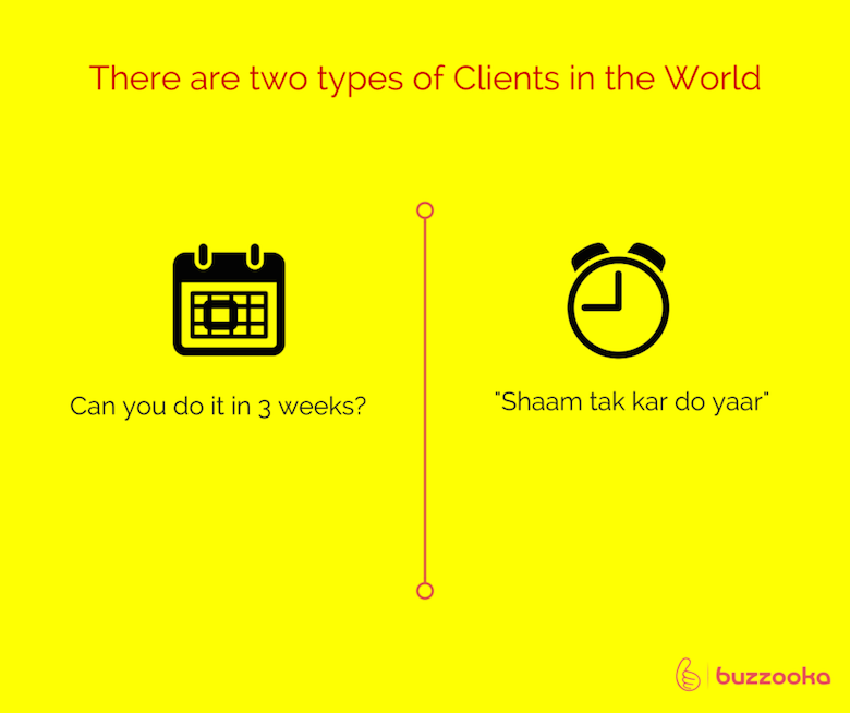 Two types of agency clients / Funny advertising, design projects - 8