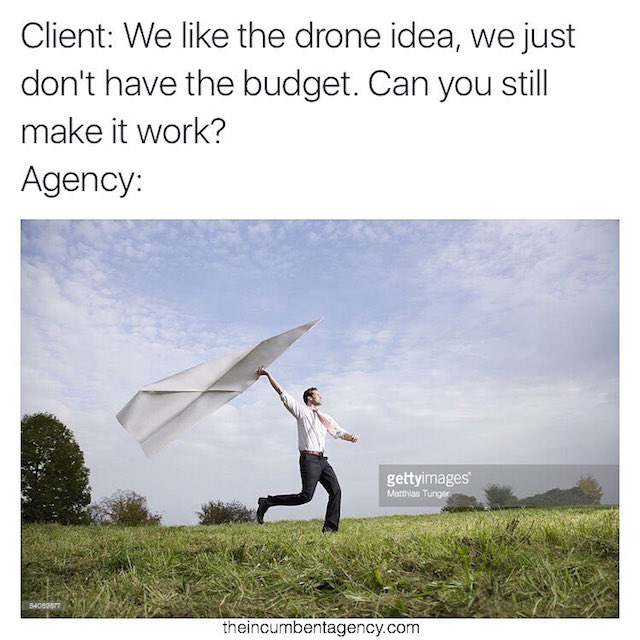 Ad agency life shown with funny stock photos - 1
