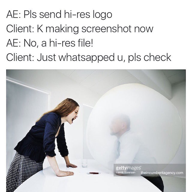 Ad agency life shown with funny stock photos - 10