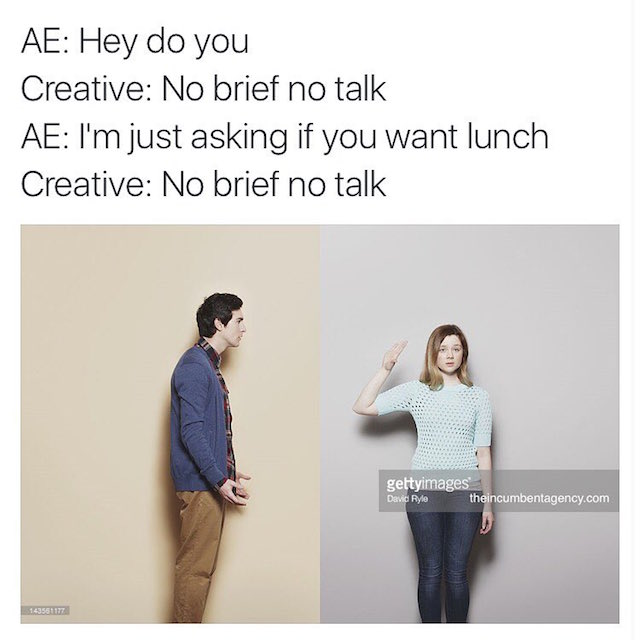 Ad agency life shown with funny stock photos - 6