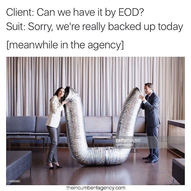 Ad agency life shown with funny stock photos - 9