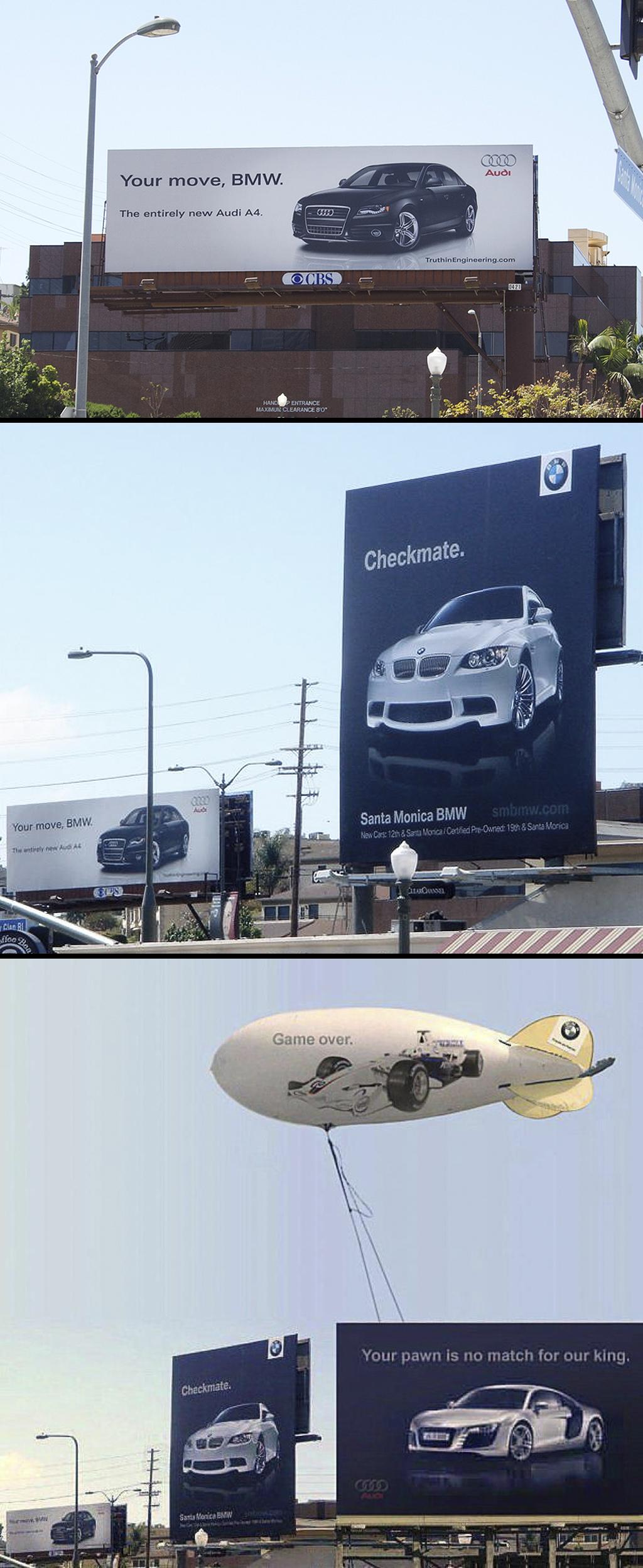 BMW vs. Audi - Billboard Battle