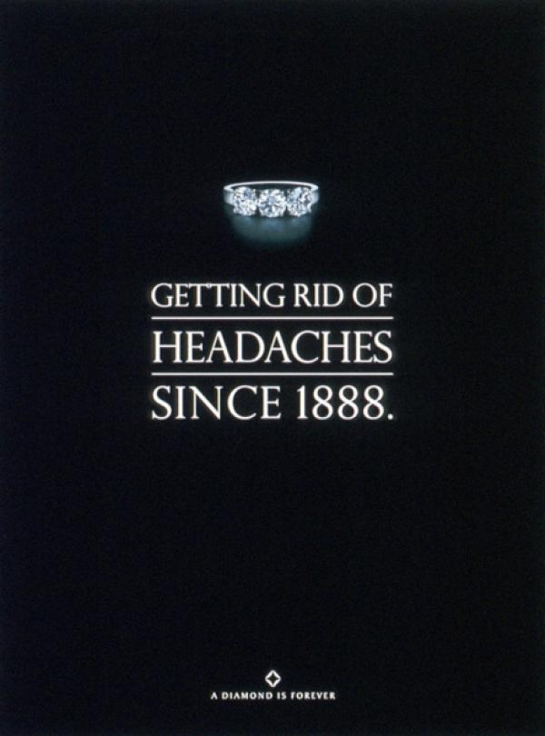 Getting rid of headaches since 1888. - De Beers