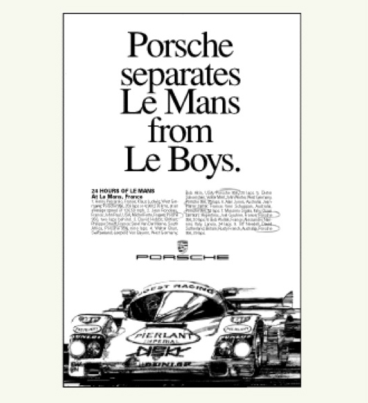 Porsche separates Le Mans from Le Boys.