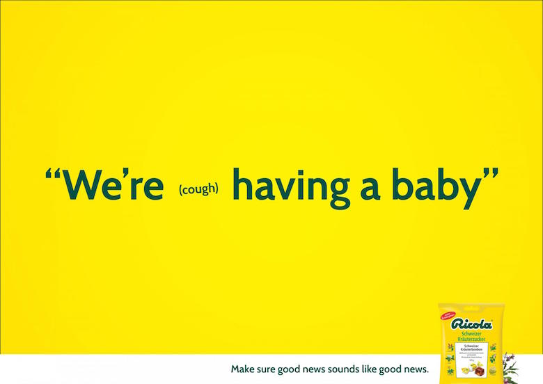 We're (cough) having a baby. - Ricola