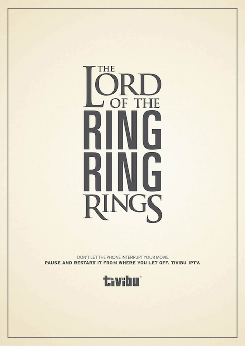 The Lord of the Ring Ring Rings. Don't let the phone interrupt your movie. - Tivibu