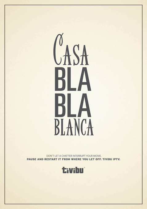 Casa Bla Bla Blanca. Don't let a chatter interrupt your movie. - Tivibu
