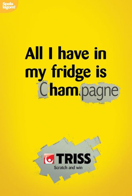 All I have in my fridge is cHAMpagne. - Triss