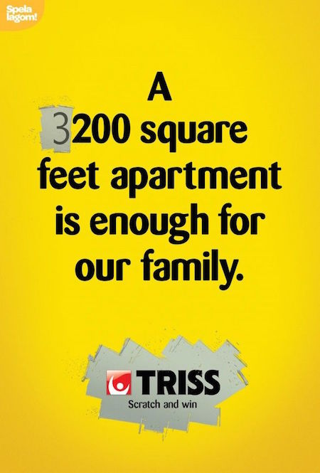 A 3200 square feet apartment is enough for our family. - Triss