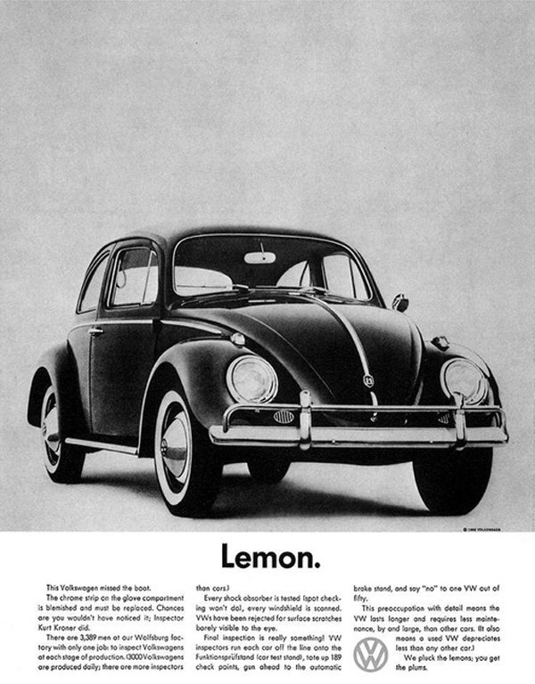 Lemon. - Volkswagen Beetle