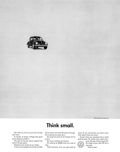 Think small. - Volkswagen Beetle