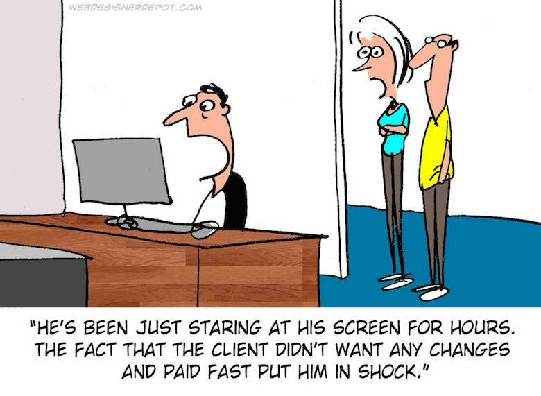 Funny comics for graphic and web designers - 1