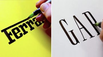 Watch This Calligrapher Draw Famous Logos With Remarkable Accuracy Entirely By Hand