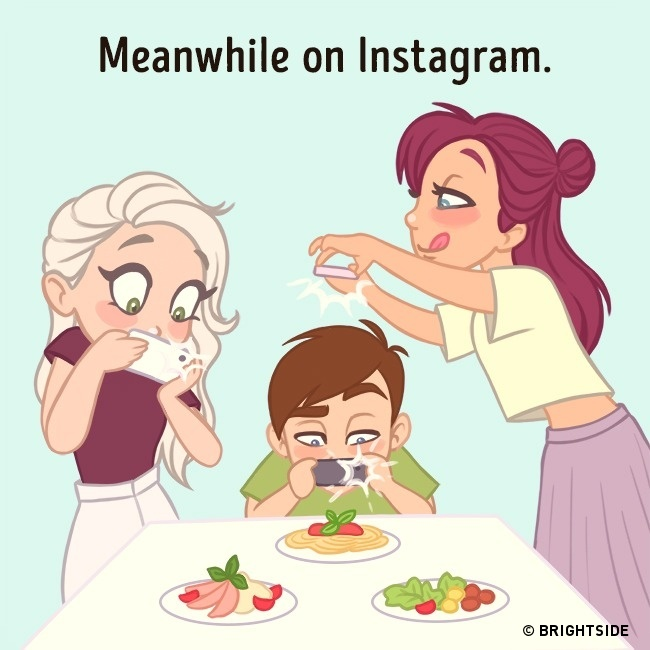 Honest illustrations that show how we behave on social media - 5