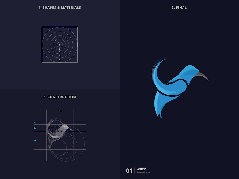 25 creative logos based on the golden ratio - 1
