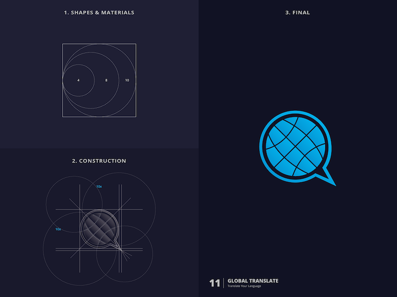25 creative logos based on the golden ratio - 11