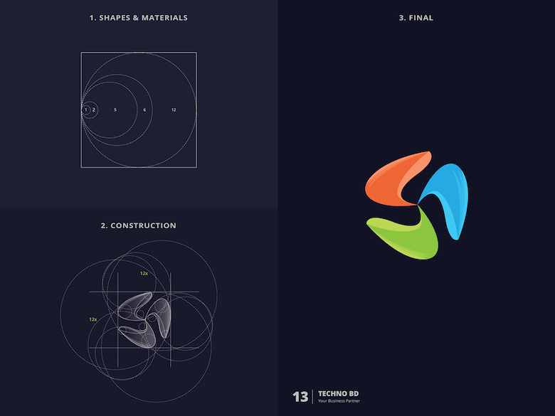 25 creative logos based on the golden ratio - 13
