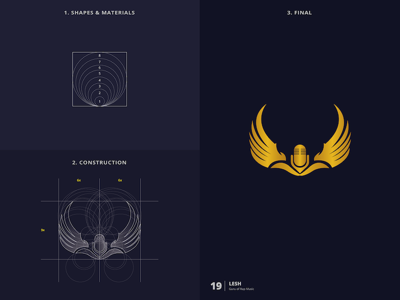 25 creative logos based on the golden ratio - 19