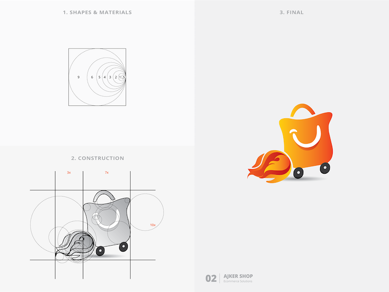 25 creative logos based on the golden ratio - 2