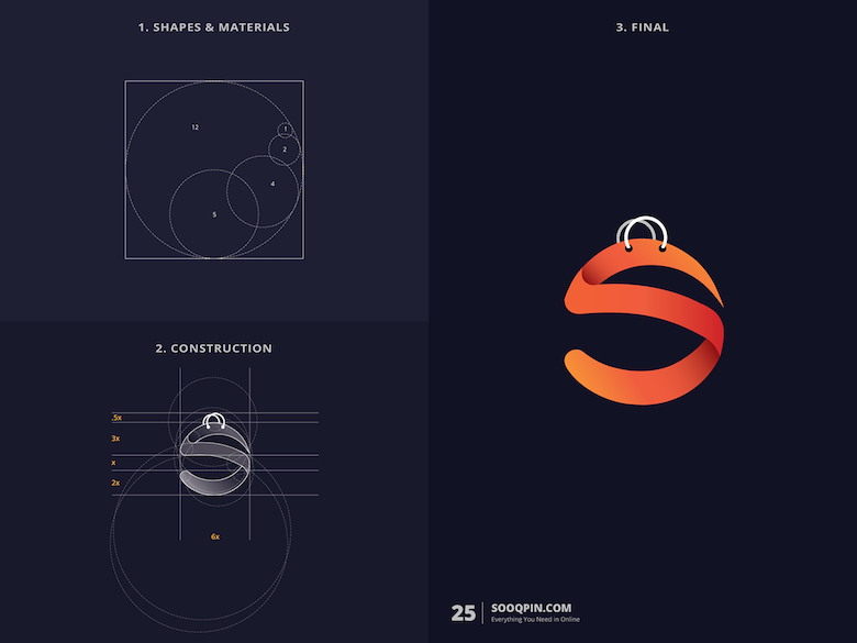 25 creative logos based on the golden ratio - 25