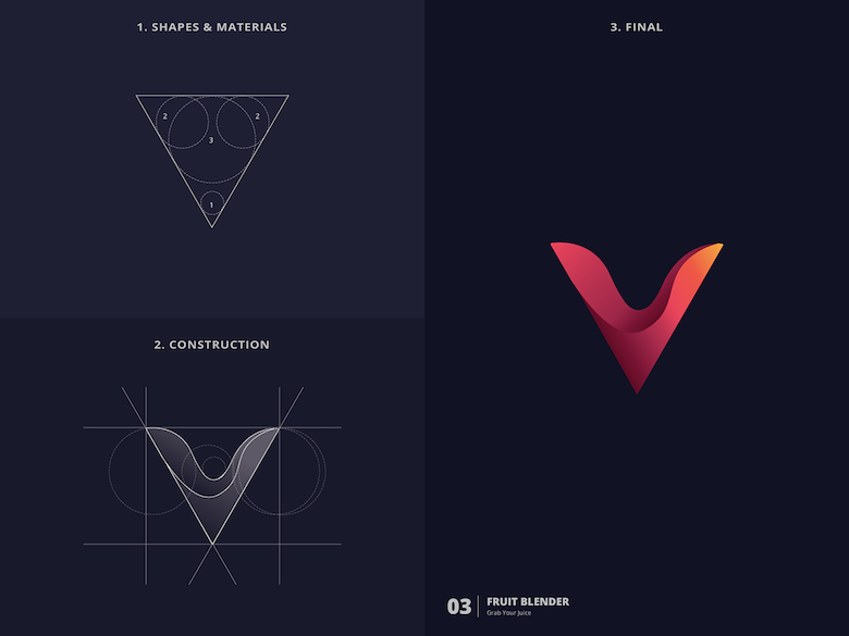 25 creative logos based on the golden ratio - 3