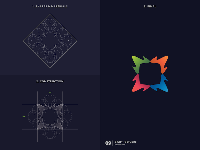25 creative logos based on the golden ratio - 9