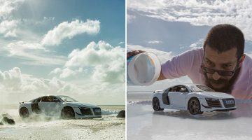 Audi Hires Photographer To Shoot Their $200,000 Sports Car, He Uses A $40 Toy Car Instead