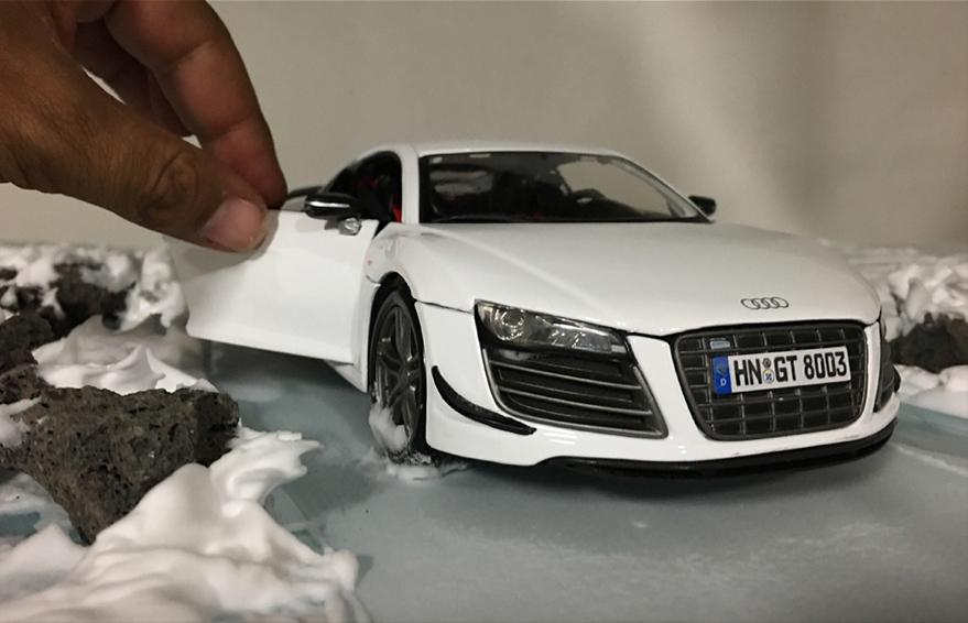 Audi R8 - Miniature Scale Model Car Photography (4)