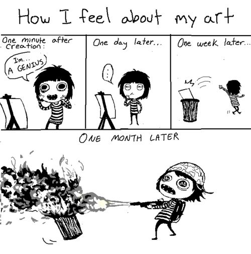Funny comics that show the life of an artist - 2