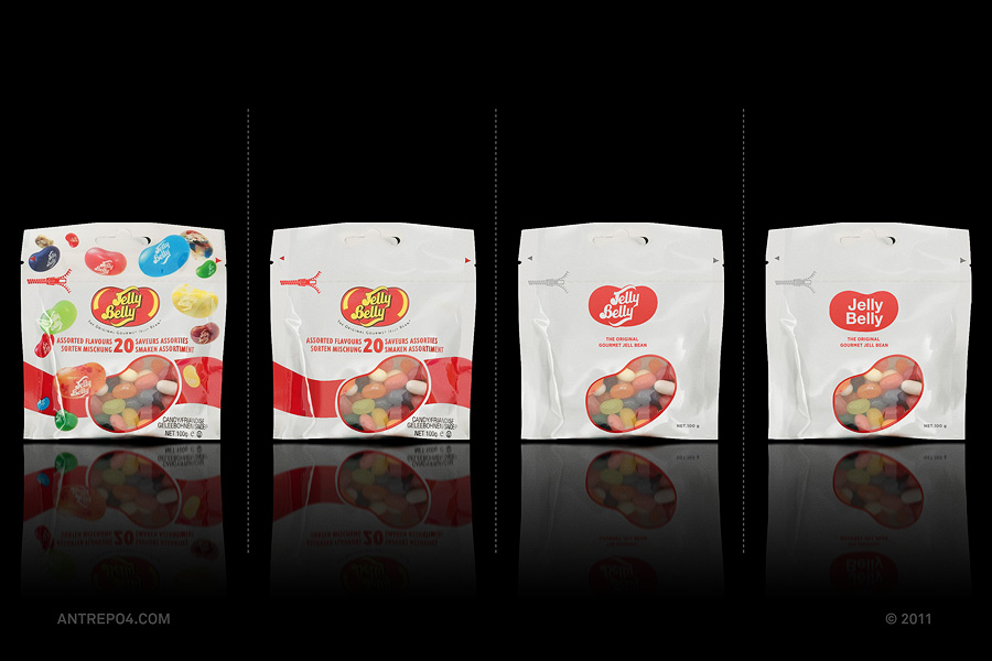 Minimalist product packaging of famous brands - Jelly Belly