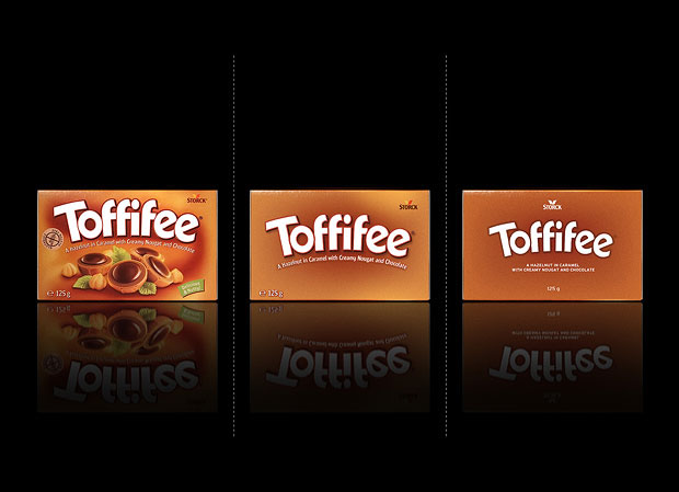Minimalist product packaging of famous brands - Toffifee