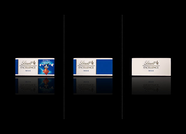 Minimalist product packaging of famous brands - Lindt