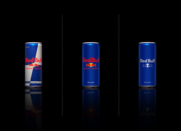 Minimalist product packaging of famous brands - Red Bull