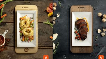 Dinner Plates Resemble Mobile Devices In These Well-Crafted Ads By Aval Pay App