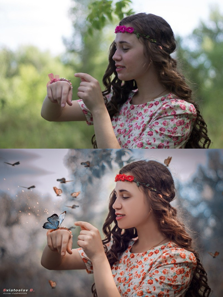 Before and after Photoshop images - 4