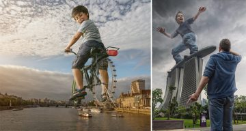 Dad Creates Crazy Images With Son Using His Expert Photoshop Skills